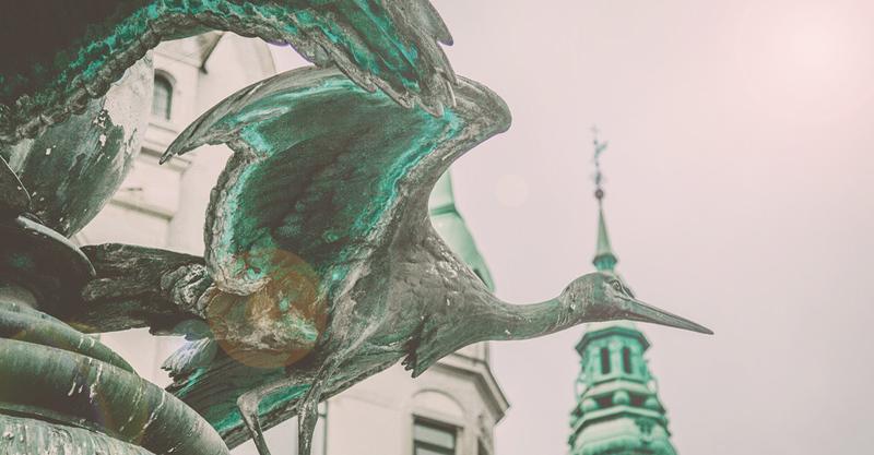 Storke Springvandet, som studenter bader i på studenterkørslen i København
