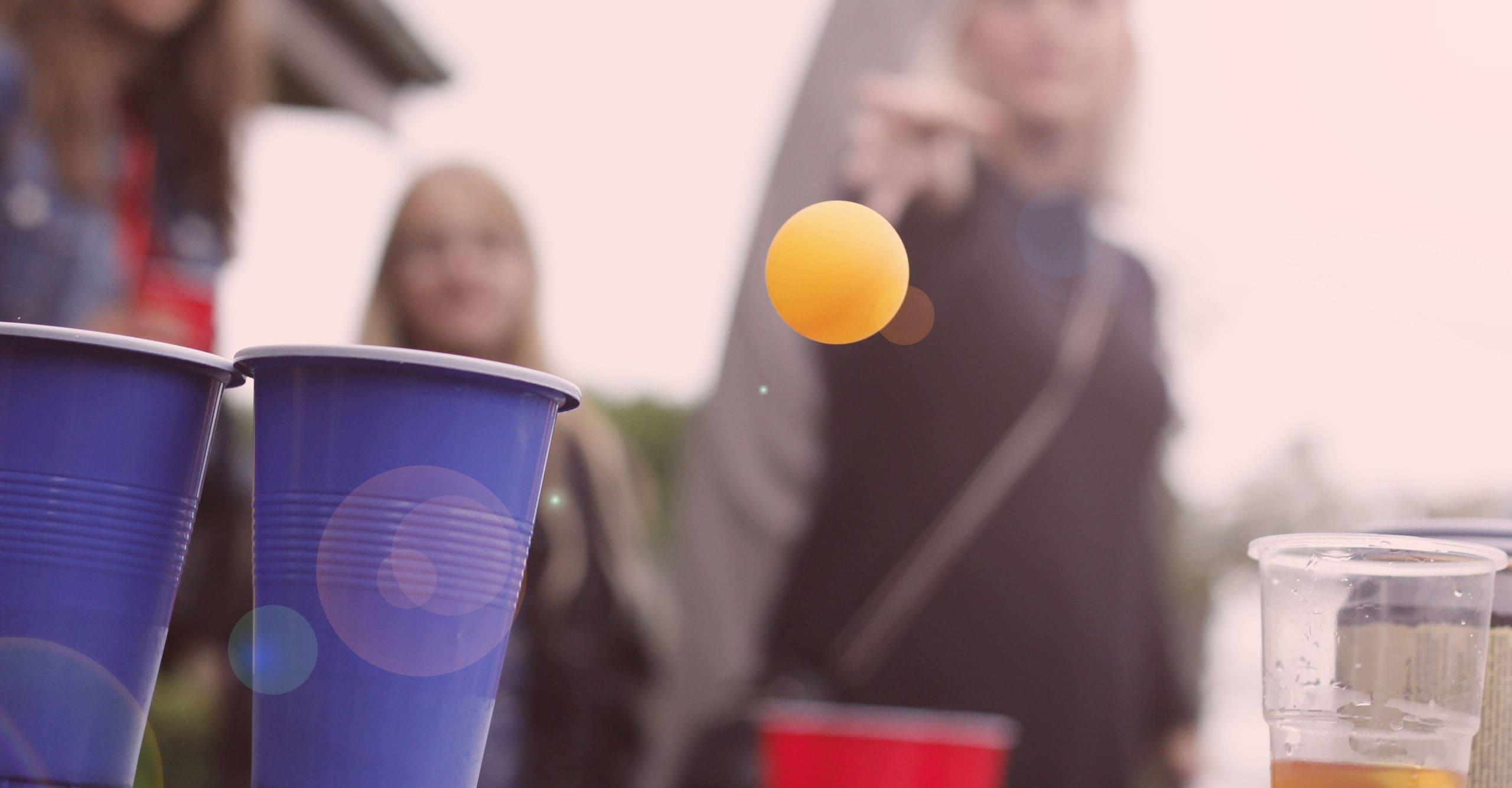 Beer pong på studenterkørslen