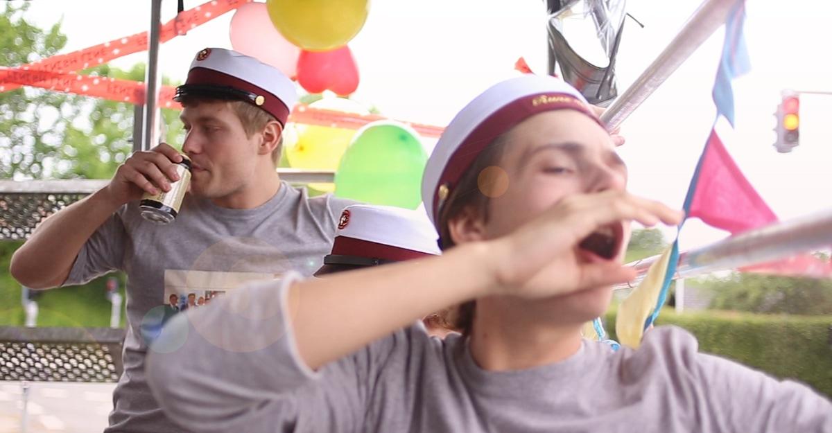 Fest på studentervogn